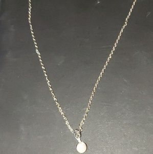 Jewelry - Very beautiful pearl type necklace with small cz